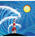 Lighthouse in the Sea3 vector image vector image