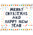 Merry Christmas and Happy New Year postcard Card vector image