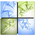 Modern triangle abstract background vector image