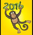 Monkey design frame graphic vector image vector image