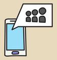 myspace social network icon vector image vector image
