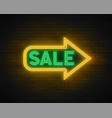 neon light linear promotion banner price tag vector image vector image