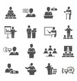 public speaking political debate lecturer speech vector image vector image