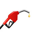 realistic detailed 3d fuel nozzle with drop vector image vector image