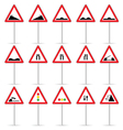 road sign color art vector image vector image