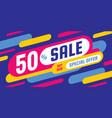 sale discount concept horizontal banner vector image vector image