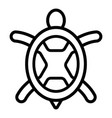sea turtle icon outline style vector image vector image