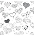 Seamless Pattern Sketch Romantic Love Hearts Retro vector image vector image