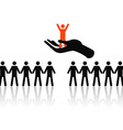 selecting the best job candidate vector image