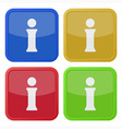 set of four square icons with information symbol vector image vector image