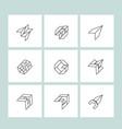 set of minimal geometric monochrome symbol set vector image vector image