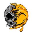 skull for changing fake smile vector image