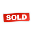 sold red stamp flat icon vector image vector image