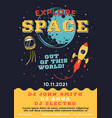 space explorer flyer trending galaxy themed music vector image vector image