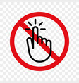 stop hand finger sign no touch icon vector image vector image