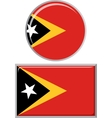 timor-leste round and square icon flag vector image vector image