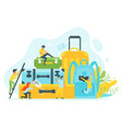 tourism concept background vector image vector image