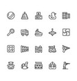 toys icon set in outline style with editable vector image