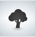 tree icon isolated on white background vector image vector image
