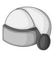 virtual reality helmet icon monochrome vector image vector image