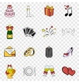 Wedding set icons vector image vector image