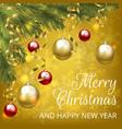christmas yellow card vector image