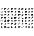 animals icon set simple style vector image