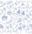 doodle social media movie music news video vector image