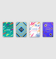 four colorful covers collection in flat design vector image