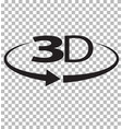3d icon on transparent background 3d sign flat vector image vector image
