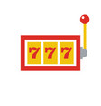 777 jackpot icon - casino gambling - machine slot vector image