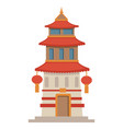 asian architecture historic temple or tower vector image vector image