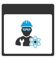 Atomic Engineer Calendar Page Toolbar Icon vector image vector image