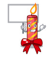 bring board character christmas decoration with vector image vector image