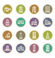 buildings icons set vector image vector image
