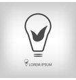Bulb with leaves as eco energy symbol vector image vector image