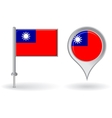 Burma pin icon and map pointer flag vector image vector image
