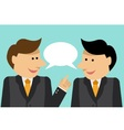 Businessmen engaged in dialogue vector image