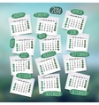 Calendar design English vector image