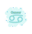 cartoon cancer zodiac icon in comic style vector image