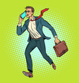 ceo businessman with phone goes vector image