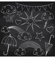 Chalkboard Weather Set vector image