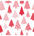 christmas trees modern seamless pattern vector image vector image