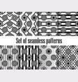 citrus seamless pattern set black ornament vector image vector image
