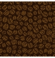 Coffee bean seamless pattern vector image vector image