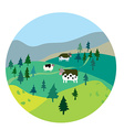 Cows and landscape vector image