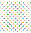 cute colorful geometrical art deco pattern vector image