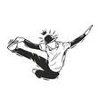 dancer king vector image vector image