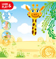 draw giraffe using your hand and fingers look at vector image vector image