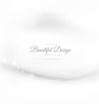 elegant white background with wave vector image vector image